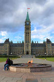 Parliament building in Ottawa, Canada Royalty Free Stock Images