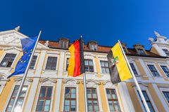 Parliament building of saxony anhalt in magdeburg germany. The parliament building of saxony anhalt in magdeburg germany Stock Photo
