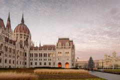 Parliament building side view, Budapest Royalty Free Stock Image