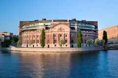 Parliament building in Stockholm, Sweden Stock Image