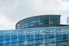 Parliament building in Strasbourg Stock Photography