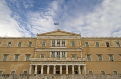 Parliament Building at Syntagma Square Royalty Free Stock Images