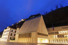 Parliament building in Vaduz Royalty Free Stock Photography