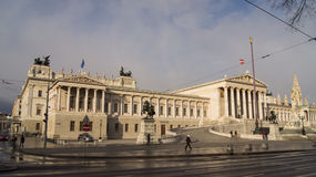 Parliament building in Vienna, Austria. Royalty Free Stock Photo