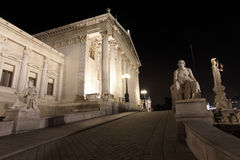 The Parliament Building of Wien Royalty Free Stock Photography