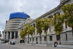 Parliament Buildings & Beehive, Wellington New Zealand. Royalty Free Stock Photography