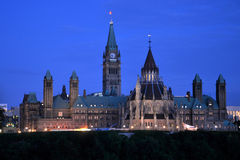 Parliament Buildings and Library, Ottawa Stock Photo