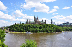 Parliament Buildings and Library, Ottawa Royalty Free Stock Photography