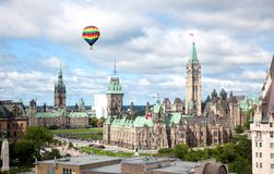 Parliament Buildings in Ottawa, Canada Royalty Free Stock Images