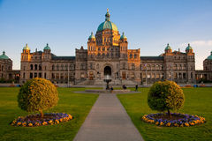 Parliament Buildings, Victoria, BC at sunset Royalty Free Stock Images