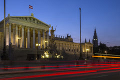Parliament Buildings - Vienna - Austria. Royalty Free Stock Photos