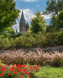 Parliament Buildings viewed from park. Stock Images