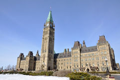 Parliament Buildings winter view, Ottawa, Canada Stock Images