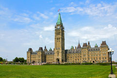 Parliament of Canada. The building of Canadian Parliament on the Parlament Hill, Ottawa, Ontario Royalty Free Stock Photo