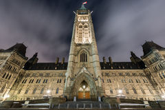 Parliament of Canada. Canadian House of Parliament on Parliament Hill in Ontario, Ottawa, Canada Royalty Free Stock Photography
