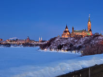 Parliament of Canada at Dusk Royalty Free Stock Images