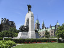 The Parliament of Canada, Heroes Monument Royalty Free Stock Photography