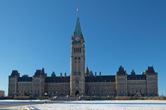 Parliament of Canada in Ottawa royalty free stock photos