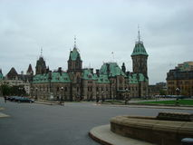Parliament of Canada - Ottawa, ON. The Parliament Hill and its historical buildings royalty free stock photo