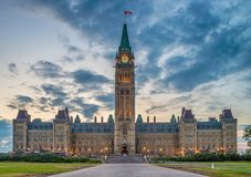 Parliament of Canada in Ottawa. North America stock images