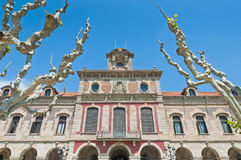 Parliament of Catalonia in Barcelona, Spain Royalty Free Stock Photography
