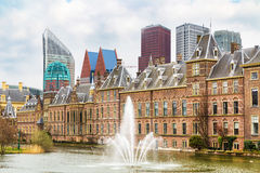 Parliament and court building complex Binnenhof in Hague, Holland Stock Image