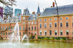 Parliament and court building complex Binnenhof in Hague, Holland Royalty Free Stock Photos