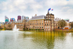 Parliament and court building complex Binnenhof in Hague, Holland Royalty Free Stock Photography