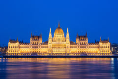 Parliament and Danau in Budapest Stock Photography