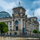 Parliament and doom Reichstag Berlin Reichskuppel royalty free stock photography