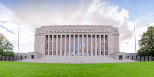 Parliament of Finland, Helsinky. Parliament of Finland in Helsinky with clouds Stock Images