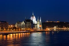 Parliament Hall in Budapest, Hungary Stock Image