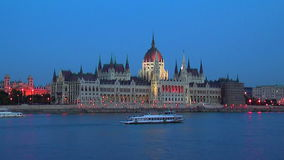 Parliament Hall in Budapest, Hungary stock video