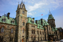 Parliament Hill in Canadian capital Ottawa Stock Photography