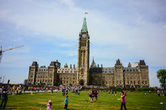 Parliament Hill in Canadian capital Ottawa Stock Images