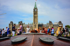Parliament Hill in Canadian capital Ottawa Royalty Free Stock Image