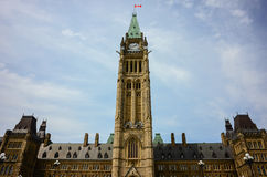 Parliament Hill in Canadian capital Ottawa Royalty Free Stock Photo