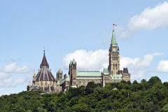 Parliament Hill in Ottawa Royalty Free Stock Image