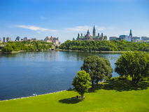 Parliament Hill, Ottawa, Canada. Panoramic view of Parliament Hill, Ottawa, Canada Royalty Free Stock Images