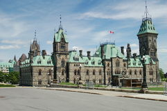 Parliament Hill in Ottawa - East Block Royalty Free Stock Photo