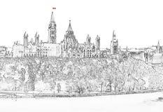 Parliament Hill in Ottawa - Ontario, Canada royalty free stock photos