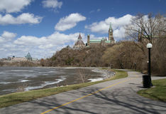 Parliament Hill Pathway. West side of Parliament Hill during Spring. Ottawa, Ontario. Canada Stock Photography