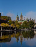 Parliament Hill from the Rideau Canal Stock Photography