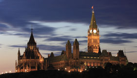 Parliament Hill at Sunrise Stock Photography