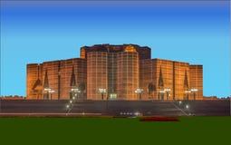 Parliament House Of Bangladesh Vector. Vector art Of Parliament House Of Bangladesh royalty free illustration