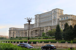 The parliament house in Bucharest, Romania Royalty Free Stock Photo