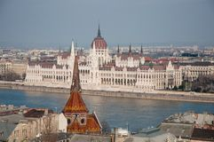 Parliament house in Budapest, Hungary Royalty Free Stock Photos