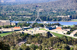 Parliament House Canberra. Viewed from Red Hill Royalty Free Stock Photography