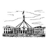 Parliament House in the Canberra, ACT, Australia. Stock Photo