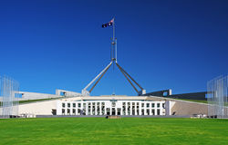 Parliament House in Canberra, Australia. Australian Parliament House in Canberra royalty free stock photo